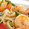 Linguine & Asparagus with Shrimp