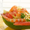 Pink Grapefruit & Shrimp Stir Fry