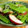 Snow Pea Salad Toss With Apples and Ginger
