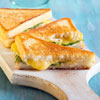 Spinach, Mushroom & Cheddar Grilled Sandwiches