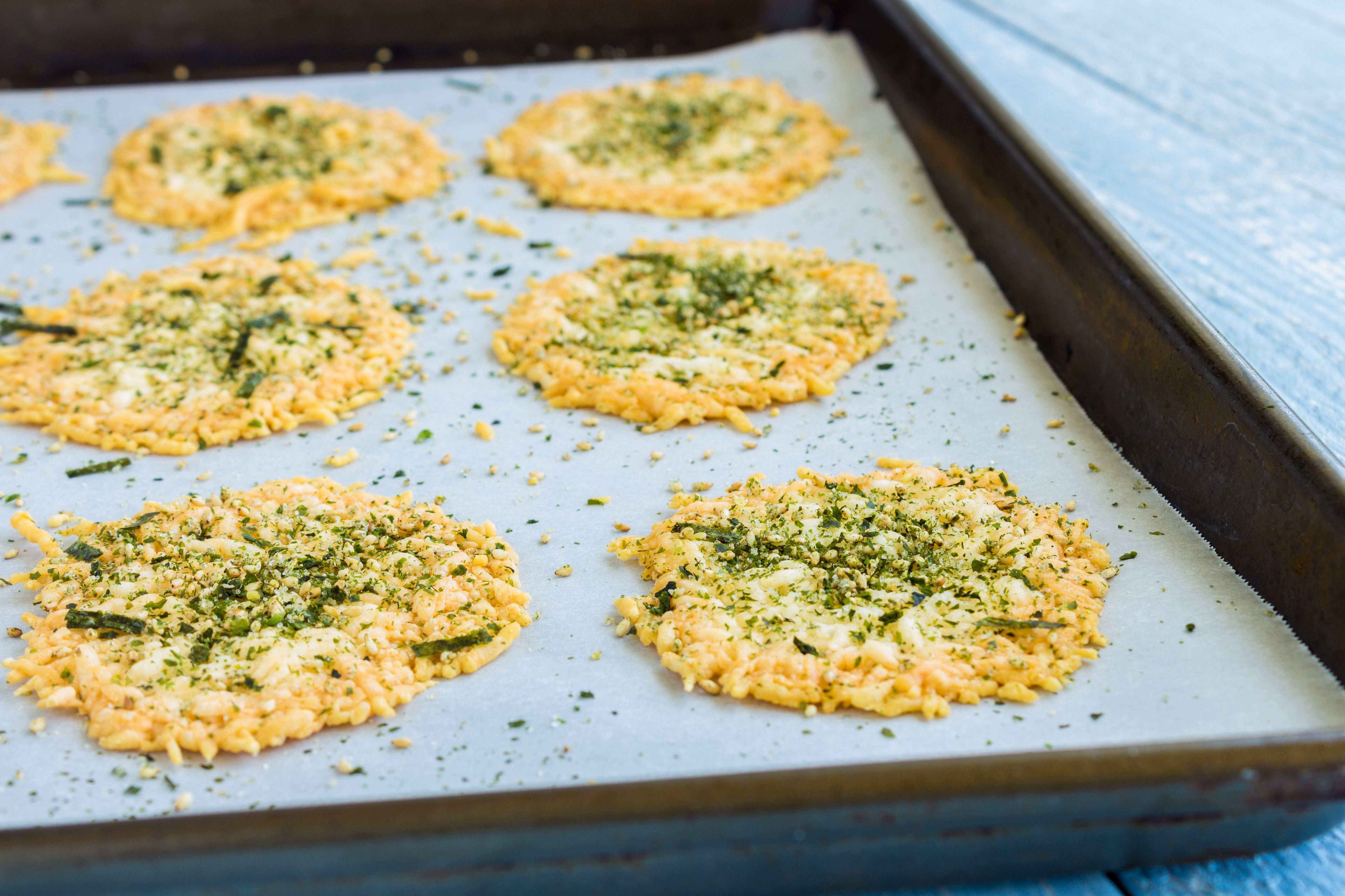 Parmesan and Rosemary Wafers